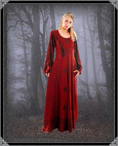 Bäres Tageskleidung - Damen Langes Gothic Kleid Finja Grün