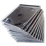 PEARL Leere CD Hüllen: CD Jewel Boxen im 50er-Set, schwarzes Tray (Jewelcase für CD)