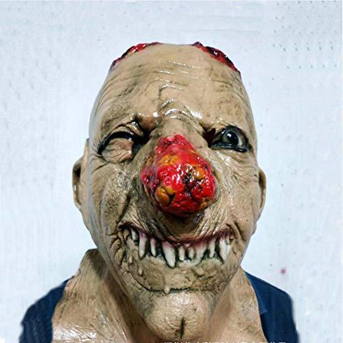 Gzhengjie Halloween Kostüm Maske Sch?Del Voller Gesichtsmaske Horror Skelett Cosplay Masquerade- Latex, Unisex Perfekt Für Fasching, Karneval & Halloween