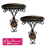 #8: Craftland Combo/Pair Of Wooden Wall Bracket Wall Hanging Dã£Â©Cor For Living Room