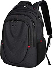 KROSER Travel Laptop Backpack 15.6 Inch Molded Front Panel Large Computer Daypack Water-Repellent with USB Cha
