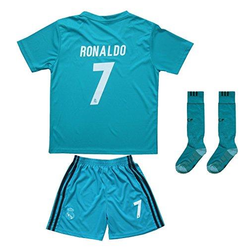 2017/2018Maillot Cristiano Ronaldo Real Madrid # 7ausweich Pantalon Maillot pour Enfant et chaussettes taille enfant