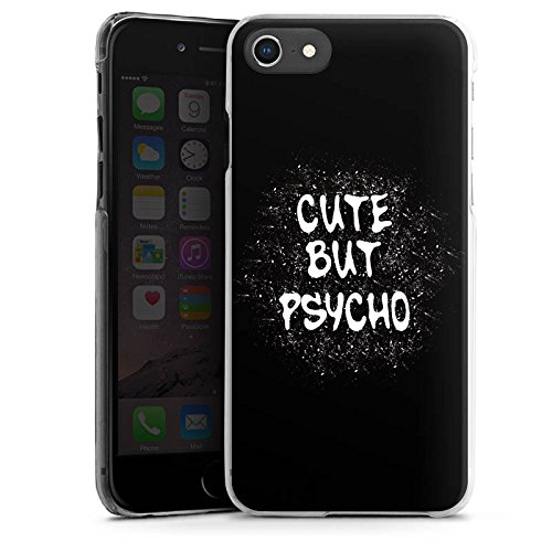 Apple iPhone SE Silikon Hülle Case Schutzhülle Cute but Psycho Statement Spruch Hard Case transparent