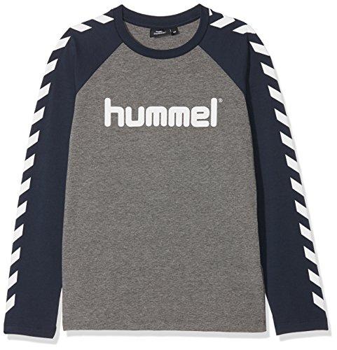 Hummel Jungen HMLBOYS T-Shirt L/S, Medium Melange, 140