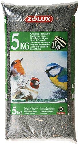 Zolux Graines de Tournesol Sac de 5 kg pour Oiseaux de la Nature
