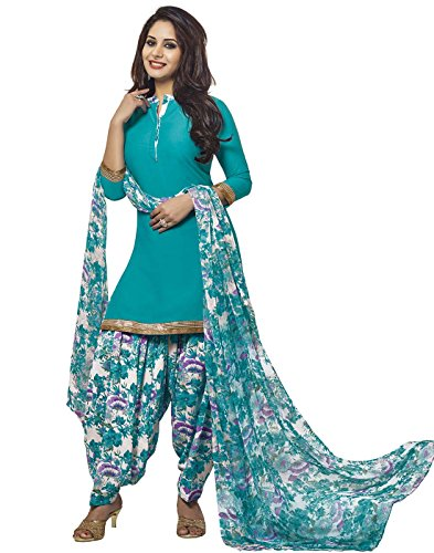 Jevi Prints Women's Unstitched Synthetic Crepe Printed Salwar Suit Dupatta Material