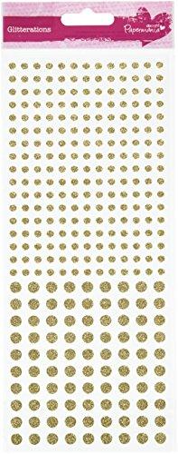 docrafts Anita's Glitterations Dots Stickers, Gold Test