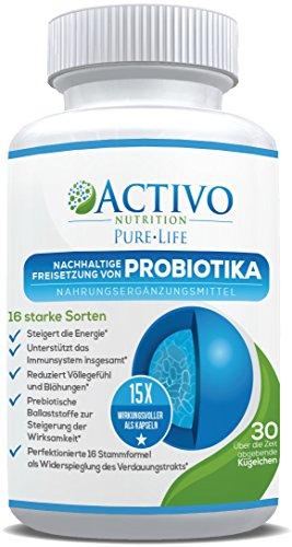 Probiotika 15x wirksamer als Kapseln durch patentierten Perlen mit Freigabezeit - die besten Probiotikum darmsanierung - gesunden Verdauung, Immunität, Energie, Stimmung und Konzentration
