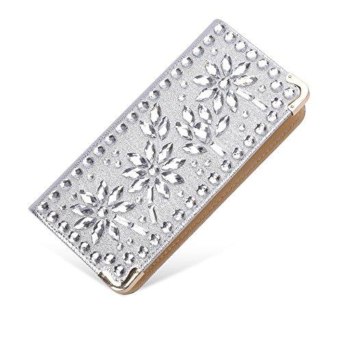 Sotica, Poschette giorno donna S silver-flower diamond
