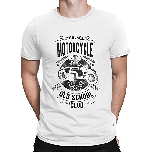 California Old School Motorcycle Club Cafe Racer Style Herren T-Shirt M