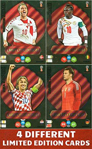 rld Cup 2018–Vier (4) Limited Edition Karten–Neuen, Mähne, Modric & Eriksen (Eriksen Match Attax)