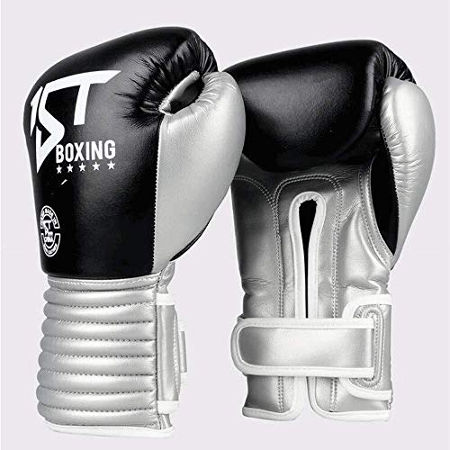 HJBH 8oz / 10oz / 12oz Erwachsene Unisex-Handschuhe Rot Schwarz Boxhandschuhe Muay Thai Fight Taekwondo Boxtraining Handschuhe Berufskleidung Atmungsaktive Anti-Milben-Boxhandschuhe