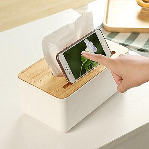 kaifang Creative Mouchoirs Boîtes, Téléphone Pour Boite à mouchoirs carrée en bois Jardinière
