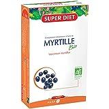 SuperDiet Jus de Myrtille Bio Fortifiant de la Vue 20 ampoules de 15ml soit 300ml