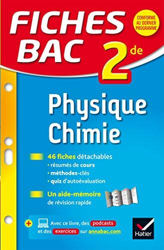 Fiches bac Physique-Chimie 2de: fiches de révision - Seconde