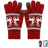 ECOMBOS Touchscreen Handschuhe Damen - Frauen Winter Warm Handschuhe Touch