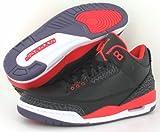Jordan Nike Air Retro 3 Bred Pallacanestro Shoeblack/Cremisi Brillante/Viola 136.064-005 Taglia