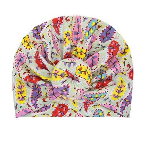 Lazzboy Baby Mädchen Geknotet Blumendruck Blumen Hut Beanie Headwear Cap Haarband Stirnband Elastische Bowknot Kopfband Turban Schleife Haarschmuck Für Kleinkinder(I) (Blume Zigeuner Kostüm)