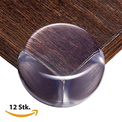 BabyByLu Eckenschutz, Kantenschutz für Möbel, Transparent mit extra starkem und 100% durchsichtigem Kleber [12 Stück]