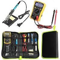 Comaie Soldador Kit de Soldadura Trabajo multímetro Digital screwdiver Holder 60w Ajustable estación de Temperatura Herramienta