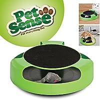 Juguete interactivo de atrapar el ratón, de Petsense, con tapete mullido para rascar,tamaño aproximado:25 x 6,5cm