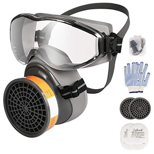 RMáscara Gas Zelbuck 8100 Mascara Pintura Gafas Protectoras