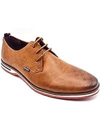 Cestfini Zapatos de Piel Clásico, Zapatos Casuales De Cordones Para Hombre