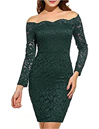 Blazar Donne Vestiti Corti Cocktail Bodycon Mini Floreale Pizzo Maniche  Lunghe Abiti da Sera Matrimonio Party b6d9c2284db