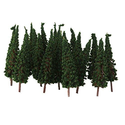 50x alberi pagoda verde scala 1:100 per modellismo diorami treno ferrovia