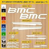 Stickers vélo BMC_ KIT 3 Kit Stickers 13 pièces - Choisir immédiatement Colore- Bike Cycle pegatina Cod.0845 (010 Bianco)...