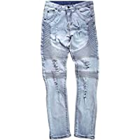 Hellomiko Pantalones de Mezclilla para Hombre con diseño elástico Stretch Skinny Fit Jeans para Hombre