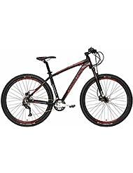 'Mountain Bike Cicli Adriatica Wing RX 29 con marco de aluminio, frenos de disco hidráulico, horquilla delantera Pedal, ruedas de 29, cambio Shimano a 27 Velocidad, negro / rojo