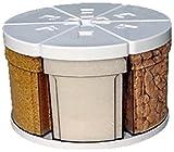 CAROUSSEL CASTEL - S27-6b105 - 6 dosen 105 cl mit ausgiesser auf 1 EINFACH DREHTELLER 27 - Diameter : 27 cm - Prodückthöhe : 18 cm - Farbe : Drehtelle : weiss, Dosen : durchsichtig und Deckel weiss