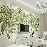Papier Peint Intissé Fond D'Écran Muralepapier Peint 3D Frais Herbe Verte Feuillage Plante Jungle Vent Fond Mur Salon Chambre Papier Peint Pour Les Murs 3 D