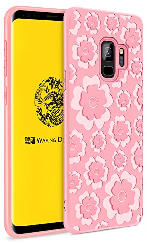 Samsung Apple iPhone LG Sony Motorola Moto Handy Fällen, Galaxy S9, PT223-Graceful Pink Pink Handy Fall