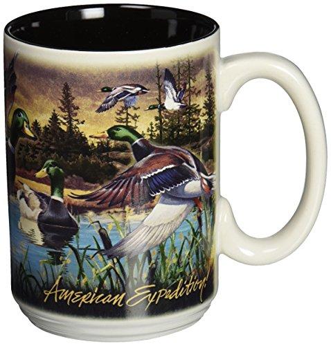 American Expedition Wildlife Collage Serie 444ml Steingut Kaffee Tasse (Mallard Duck) American Wildlife Serie