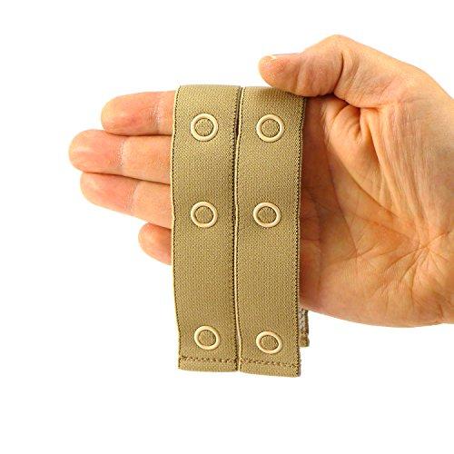 2 x Hosenerweiterung & elastischer Kindergürtel in einem – die ideale Bauchband Umstandsmode – Qualität Made in Germany (beige)
