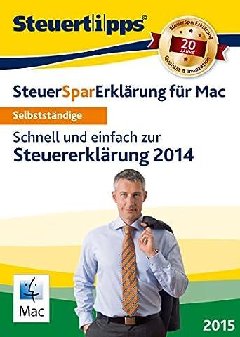 SteuerSparErklärung für Selbstständige 2015, Mac-Version (für Steuerjahr 2014) [Download]