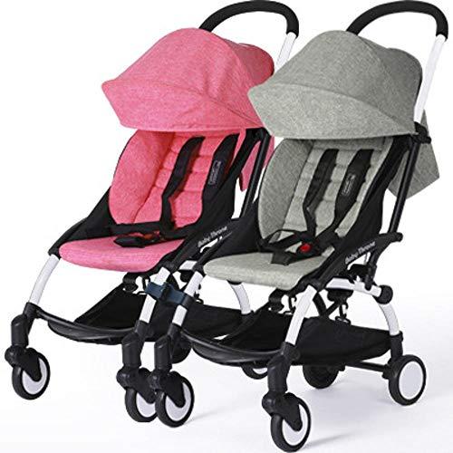 sober Kinderwagen,Twin-Kinderwagen kann sitzen kann gliedert Sich leichte Portable Faltbare Doppel Auto Kinderwagen 44,5 * 19 * 54 cm