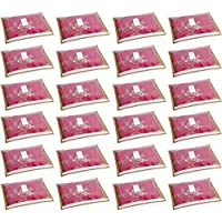HomeStrap set of 24 Foldable Single Saree Covers / Clothes Storage Bag / Wardrobe Organizer With Transparent Top And Zip…