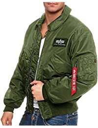 Alpha Industries Jacke Übergangsjacke Schwarz mit Fleece Für Herren  6040