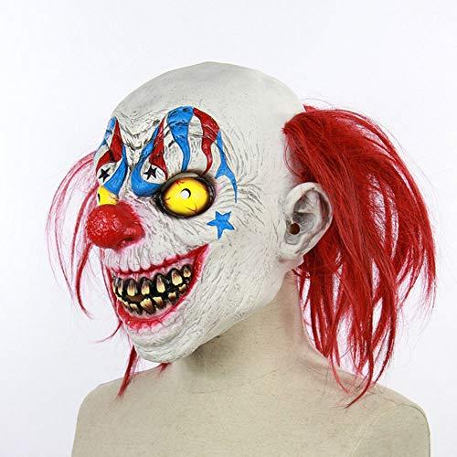 Edelehu Circus Clown Halloween Maske Beängstigend Gruselige Horror Cosplay Kostüm Bandana Latex Beängstigenden Kopf Zombie-Maske
