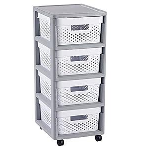 Rollcontainer Kunststoff Mit 4 Schubladen Günstig Online Kaufen