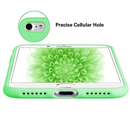 CaseLover Cover Custodia per Apple iPhone 6/6S Plus (5.5 Pollici) di colore della caramella Cambia graduale Bumper Morbida Trasparente TPU Silicone Gel Gomma Flessibile Sottile Invisibile Ultra Thin S Verde