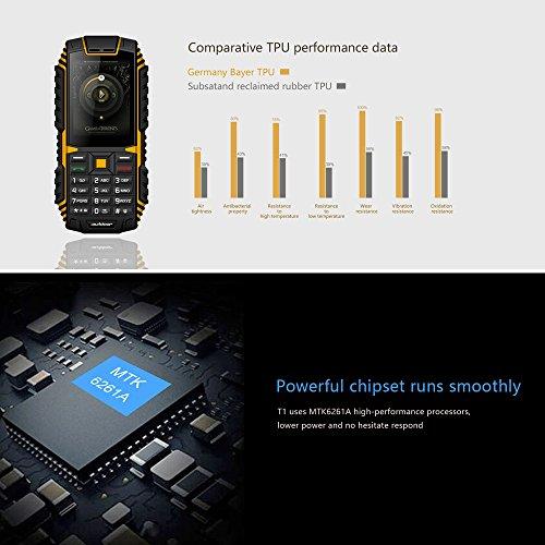 ioutdoor T1  Tri-proof caracter  stica funda para tel  fono 2  g gsm 2 4  inch MTK6261  A CPU 128  MB   32MB de almacenamiento 2  MP c  mara trasera 2
