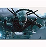 NOVELOVE Cuadro de Arte de pared Alien Covenant Horror 2017 Affiches De Film Imprimer Peinture sur Toile sans Cadre 40 * 60 cm
