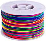 Outus 100 m Elastic Cord Beading Thread Stretch Bead String Fabric Craft Cord, 1 mm, Multicolor