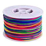 100 m Elastic Cord Beading Thread Stretch Bead String Fabric Craft Cord, 1 mm, Multicolor