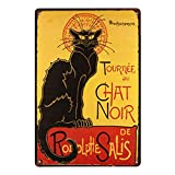 Kentop Plaque Poster Mural Vintage Plaque en métal Mural Signe Affiche Plaque Thème Animal Home Bar Pub Vin Sticker Mural de décoration Motif de Chat stye5