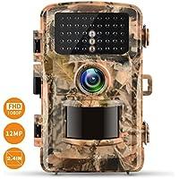 "Wildkamera Campark FHD 1080P 12MP Jagdkamera Gartenkamera 2.4"" Farbe LCD 120° Weitwinkel Vision Überwachungskamera Low Glow Infrarot 22M/75FT, 42pcs IR LEDs Wasserdicht IP56"